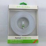 Cable doble plano del USB de los tallarines del color de los accesorios del teléfono móvil para el teléfono