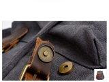 Zaino esterno di cuoio incerato della spalla del pacchetto di giorno della tela di canapa di disegno (RS-8064K-1)