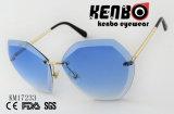 Frameless Sonnenbrillen mit geschnittenem Rand Km17233