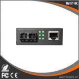 1X Fx - conversor portuário dos media do SC 1550nm 100km de 1X UTP 10/100M