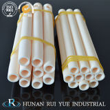 Al2O3 buena estabilidad química sauna de infrarrojos de cerámica de alúmina de tubo de calefacción del tubo de cerámica