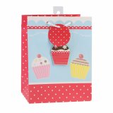 Geburtstag-Kuchen macht Andenken-Supermarkt-Kleidungs-Geschenk-Papiertüten in Handarbeit