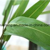 Le bambou artificiel de qualité en gros bon marché de la Chine laisse le bambou de centrale dans la vente en gros