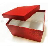 El papel de color rojo grandes cajas de cartón para regalo/Paños/patín