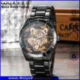 Relógio de pulso clássico de quartzo das senhoras da forma do aço inoxidável do ODM (WY-P17017B)