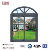 Double Glazing Aluminum Sliding Window with Sound Proof in Clouded