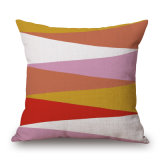 Série geométrica coloridos roupa de algodão grosso travesseiro case (35C0240)
