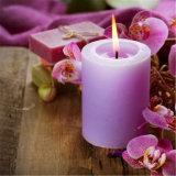 Purpurrote Lavendel-Duft-Pfosten-Kerze für Hauptdekoration