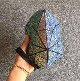 Sacos cosméticos geométricos Sequined da forma do escudo