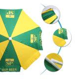 Зонтик пляжа тканей полиэфира зонтика пляжа 180g с наклоном и Поляк выдвигать
