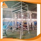Systeem van de Steiger van het Bouwmateriaal van de Steiger van de Breedte van het aluminium het Dubbele