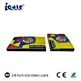 Beste Kwaliteit LCD van 2.8 Duim Video kaart-VideoBrochure voor Zaken/Reclame/Gift