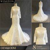 Moslemische reizvolle lange Hülsen-Form-Hochzeits-Kleid-Brautkleid-Nixe