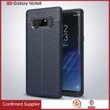 Примечание 8 галактики Samsung аргументы за телефона зерна TPU способа кожаный
