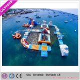 terrein Aqua van pvc van 0.9mm het Bedrijven Opblaasbare/Oceaan Drijvende Speelplaats voor Verkoop