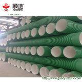 Tubo de la pared del doble del tubo de desagüe del diámetro grande Sn16 PP