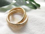 열십자 모조 금 판매를 위한 아름다운 모조 다이아몬드 반지