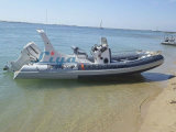 barco de lujo de la costilla del barco de los 6.2m de Liya de la costilla de los fabricantes inflables rígidos de los barcos