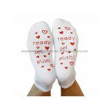Koreanische nette Parenting Trampoline-kundenspezifisches Yoga-rutschfeste Griff-Socken