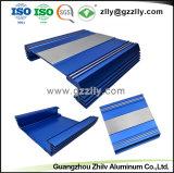 Anodize extrusión de aluminio plateado para el alquiler de equipos de audio del radiador con ISO9001