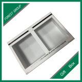 Caja de cartón blanca cosmética con la ventana del PVC