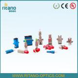 A MPO/MTP/FC/SC/LC/ST/MTRJ/E2000/MPO/DIN/D4/SMA tipos de adaptadores de fibra óptica