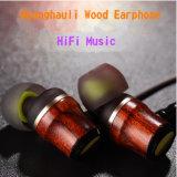 iPhone를 위한 Hi-Fi 깊은 저음 땋는 에서 귀 Huanghauli 나무로 되는 이어폰