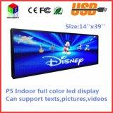 Os retratos internos cheios do texto da sustentação da alta qualidade do indicador de diodo emissor de luz P5 da cor Short vídeos