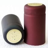Dunkles Schwarz-FarbeShrink Belüftung-Wein-Großhandelsflaschenkapsel