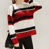 Pistes 100% de femmes de coton tricotant le T-shirt de côtes