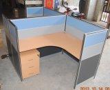 Het aangepaste L-vormige Bureau Cubile van het Werkstation met Beweegbare Lade