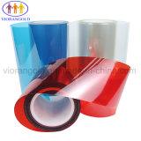 25µ/36µ/50µ/75µ/100µ/125um vermelho transparente/película de protecção de PET com adesivo acrílico para proteger a tela de plástico de vidro