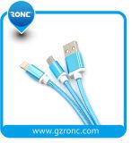Trasferimento 2 di Charging+Data in 1 mini cavo del USB con la treccia di nylon