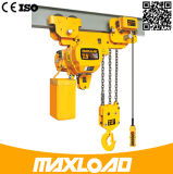 7500kg ultra faible marge de manoeuvre Hhbb0,75-SL palan à chaîne électrique 10m de hauteur de levage