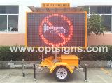 Segni dinamici alimentati solari del messaggio in anticipo LED di controllo di Traffci della strada principale della costruzione di strade di Optraffic