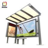 La publicité de l'écran à affichage LED abris bus fabricants abri métallique