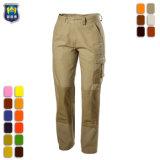 Mens Polycotton женщин плоская передняя саржа брюки работы