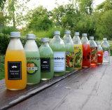 O design do cliente imprimir garrafas de leite de vidro