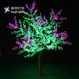 Commerce de gros paysage professionnel LED artificielle saule pleureur arbre avec l'énergie solaire
