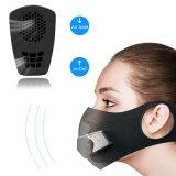 Pm2,5 à prova de pó de alergia ao pólen Anti máscara elétrica inteligente com a ventoinha e Válvulas
