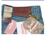 Hecho a mano de encargo de prendas de vestir Patch Brown prenda de etiqueta de cuero genuino, parche de cuero