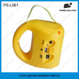 Telefone móvel que cobra a lanterna solar PS-L061 do diodo emissor de luz com o painel dois solar para áreas rurais