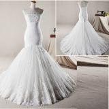 Strapless устраивающих платья шифон кружево Русалки реальную устраивающих свадьбу платье H13342