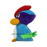 Заполненная таможней птица плюша с различным цветом