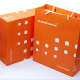 紙袋の顧客用高品質の装飾のギフトの手すき紙袋