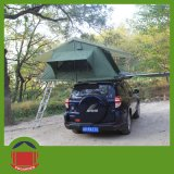 Dunkelgrünes Tent mit Leuchte-grünem Rain Fly