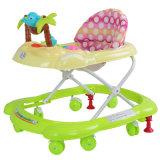 Grandes roues en gros tournant le marcheur de bébé
