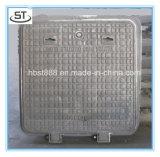Couverture de trou d'homme carrée de fer de moulage du bâti D400 450*450mm de fer d'OEM