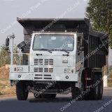 Camion resistente personalizzato HOWO 50 tonnellate che estraggono l'autocarro con cassone ribaltabile