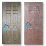 Peau de panneau de porte de contre-plaqué moulée par faisceau de peuplier de la colle E2 avec le placage de Sapeli